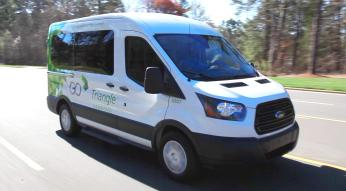 GoTriangle vanpool driving down the road